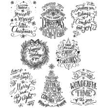Tim Holtz Cling Stamps 7X8.5 - Mini Doodle Greetings