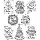 Tim Holtz Cling Stamps 7X8.5 - Doodle Greetings