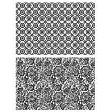 Tim Holtz Cling Stamps 7X8.5 - Rosette & Floret