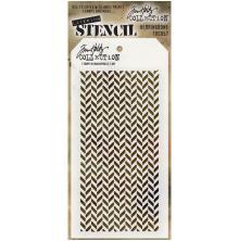 Tim Holtz Layered Stencil 4.125X8.5 - Herringbone