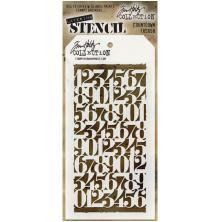 Tim Holtz Layered Stencil 4.125X8.5 - Countdown