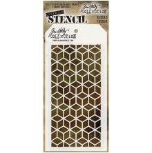 Tim Holtz Layered Stencil 4.125X8.5 - Blocks