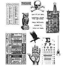 Tim Holtz Cling Stamps 7X8.5 - Mini Halloween 5