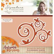 Crafters Companion Sara Davies Autumn Morning Metal Die - Flourish Leaves UTGÅENDE