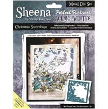 Sheena Douglass Scenic Winter Die - Christmas Snowdrops
