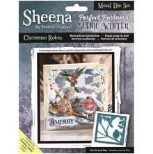 Sheena Douglass Scenic Winter Die - Christmas Robin UTGÅENDE