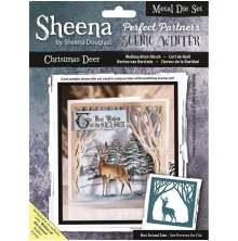 Sheena Douglass Scenic Winter Die - Christmas Deer UTGÅENDE