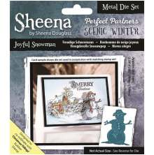 Sheena Douglass Scenic Winter Die - Joyful Snowman