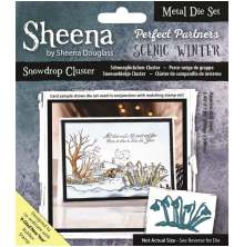 Sheena Douglass Scenic Winter Die - Snowdrop Cluster