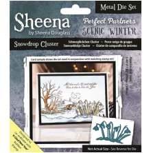 Sheena Douglass Scenic Winter Die - Snowdrop Cluster UTGÅENDE