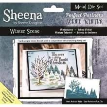 Sheena Douglass Scenic Winter Die - Winter Scene UTGÅENDE