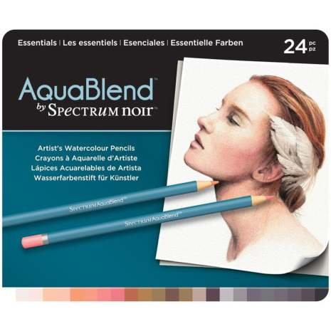 Crafters Companion Spectrum Noir AquaBlend Pencils - Essentials