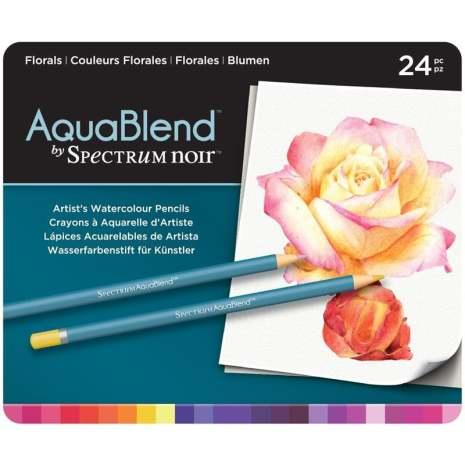 Crafters Companion Spectrum Noir AquaBlend Pencils - Florals