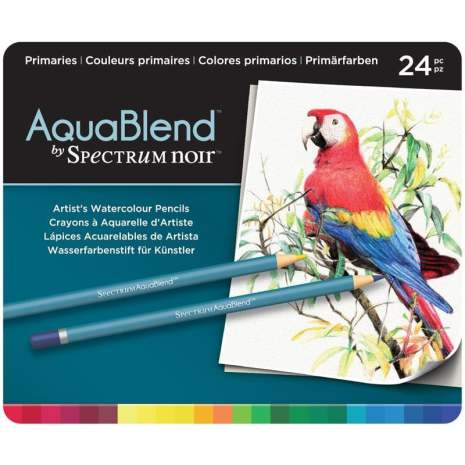 Crafters Companion Spectrum Noir AquaBlend Pencils - Primaries
