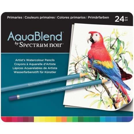 Crafters Companion Spectrum Noir AquaBlend Pencils - Primaries