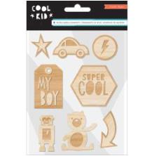 Crate Paper Wood Veneers Shapes 8/Pkg - Cool Kid UTGÅENDE