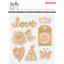Crate Paper Wood Veneer Shapes 7/Pkg - Cute Girl  UTGÅENDE