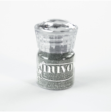 Tonic Studios Nuvo Glitter Embossing Powder - Silver Moonlight 597N