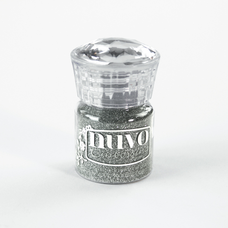 Tonic Studios Nuvo Glitter Embossing Powder – Silver Moonlight 597N