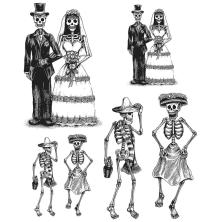 Tim Holtz Cling Stamps 7X8.5 - Day Of The Dead 2