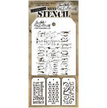 Tim Holtz Mini Layered Stencil Set 3/Pkg - Set 23