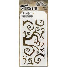 Tim Holtz Layered Stencil 4.125X8.5 - Twisted