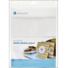 Silhouette Printable Sticker Paper 8.5X11 8/Pkg - White