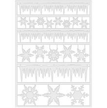 Tim Holtz Idea-Ology Adhesive Alpha Parts 19/Pkg - Borders & Snowflakes