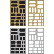 Tim Holtz Idea-Ology Metallic Stickers 4/Pkg - Labels