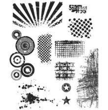 Tim Holtz Cling Stamps 7X8.5 - Bitty Grunge