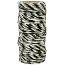 Kaisercraft Lucky Dip Jute Cord - Tri-Colour Black
