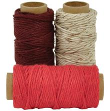 Kaisercraft Lucky Dip Mixed Hemp Cord - Cherry