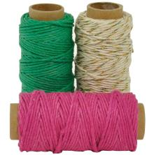 Kaisercraft Lucky Dip Mixed Hemp Cord - Toffee Apple