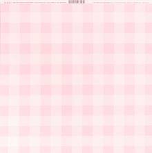 Bazzill Plaid Cardstock 12X12 - Cotton Candy UTGÅENDE