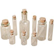Tim Holtz Idea-Ology Corked Glass Vials 9/Pkg