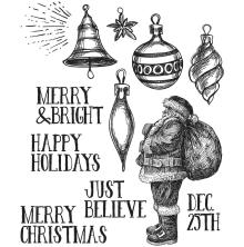 Tim Holtz Cling Stamps 7X8.5 - Festive Sketch