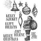 Tim Holtz Cling Stamps 7X8.5 - Festive Sketch
