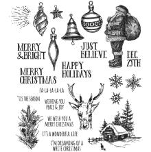 Tim Holtz Cling Stamps 7X8.5 - Holiday Drawings