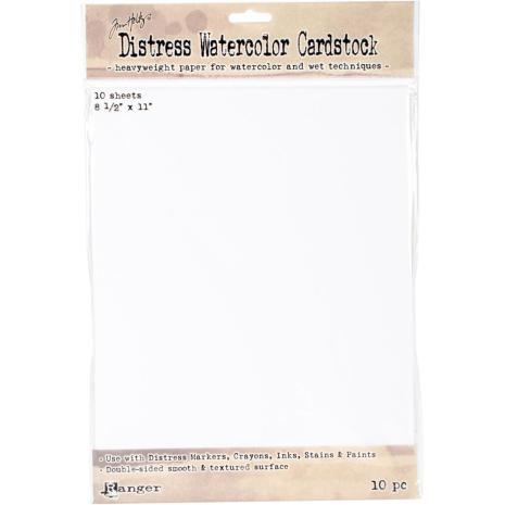 Tim Holtz Distress Watercolor Cardstock 10/Pkg 8.5X11