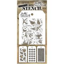 Tim Holtz Mini Layered Stencil Set 3/Pkg - Set 22