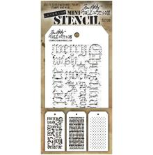 Tim Holtz Mini Layered Stencil Set 3/Pkg - Set 20