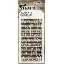 Tim Holtz Layered Stencil 4.125X8.5 - Concerto