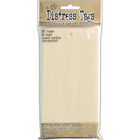 Tim Holtz Distress Mixed Media Heavystock Tags 8 20/Pkg
