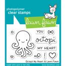 Lawn Fawn Clear Stamps 3X2 - Octopi My Heart