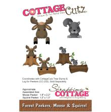 CottageCutz Forest Peekers Die - Moose & Squirrel