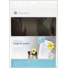 Silhouette Adhesive Magnet Paper 8.5X11 4/Pkg