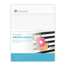Silhouette Printable Adhesive Cardstock 8.5X11 8/Pkg - White