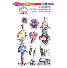 Stampendous Pink Your Life Perfectly Clear Stamps 4X6 - Whisper Friends UTGÅENDE