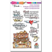 Stampendous Perfectly Clear Stamps 7.25X4.625 - Travel Home