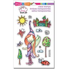 Stampendous Pink Your Life Perfectly Clear Stamps 7.25X4.6 - Whisper World UTGÅE